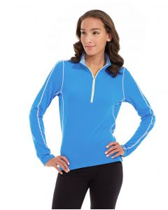 Olivia 1/4 Zip Light Jacket-M-Blue