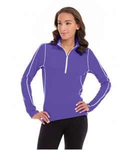 Olivia 1/4 Zip Light Jacket-XS-Purple