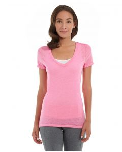Karissa V-Neck Tee-M-Red