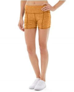 Gwen Drawstring Bike Short-30-Orange