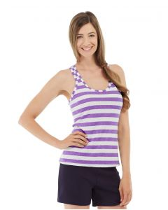 Nona Fitness Tank-L-Purple