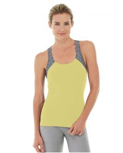 Antonia Racer Tank-L-Yellow