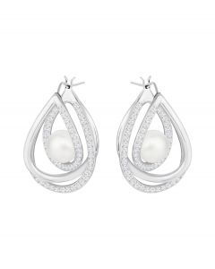 Silver Earring with White Perl