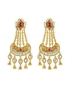 Exclusive Pink Layered Earring