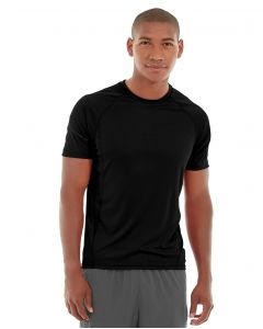 Atomic Endurance Running Tee (Crew-Neck)-XL-Black