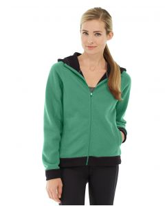 Circe Hooded Ice Fleece-L-Green