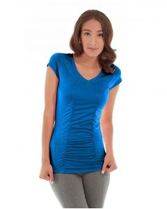 Iris Workout Top-S-Blue