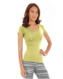 Desiree Fitness Tee-S-Yellow