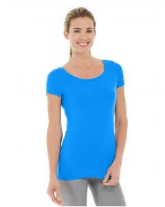 Tiffany Fitness Tee-M-Blue